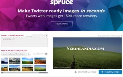 spruce una forma de crear texto en imágenes para las redes sociales