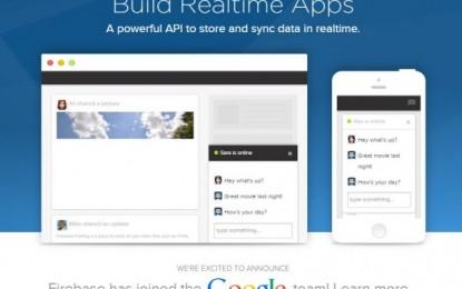 Google ha comprado Firebase, para programar aplicaciones en tiempo real para web y móviles