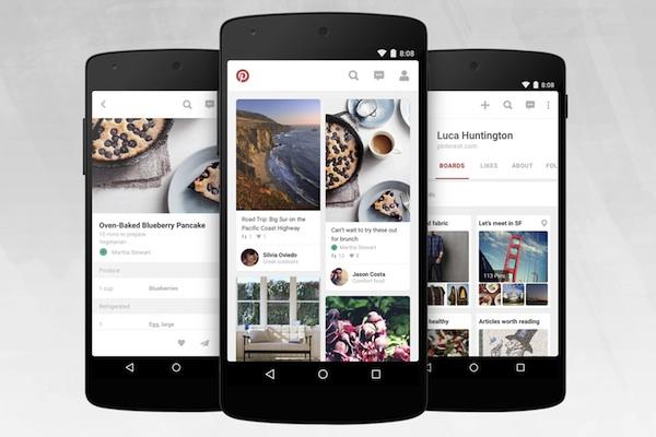 Pinterest para Android recibe una actualización con un nuevo diseño y mejoras de rendimiento
