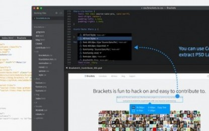 adobe lanza nueva versión de brackets, editor de texto de código libre, y extensión para generar CSS a partir de PSD