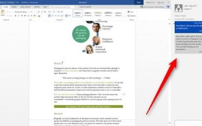 Llega el chat a los documentos de Word y PowerPoint Online