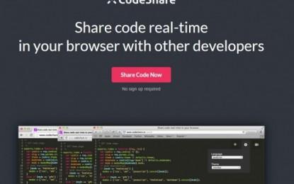 codeshare, una web para compartir código entre programadores.