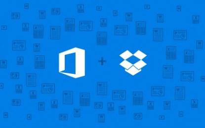 microsoft se asocia con dropbox para integrarlo con office