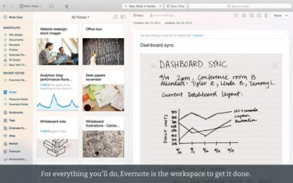 Nuevo Evernote para Mac y app para Android que ahora escanea tarjetas de presentación