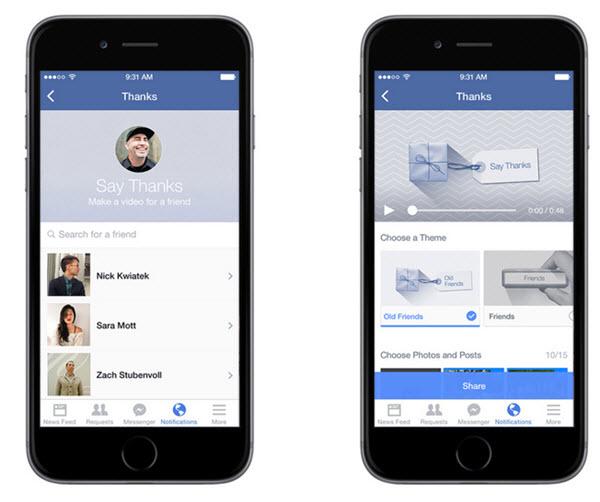 Facebook permite crear videos de agradecimiento para nuestros amigos