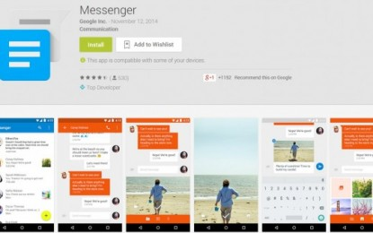 Google lanza Messenger, para enviar SMS y MMS en android