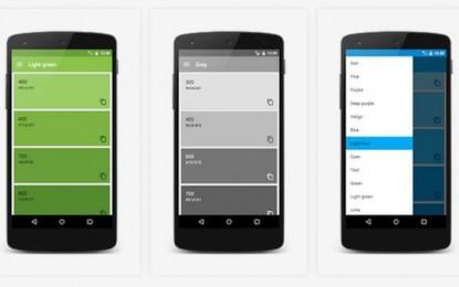 Material Design Color Palettes, paletas de colores Material Design para inspirar a desarrolladores [Android]