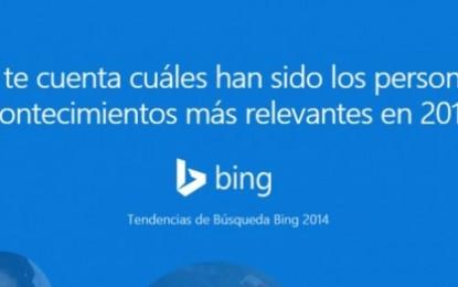 Bing presenta lo más buscado en 2014