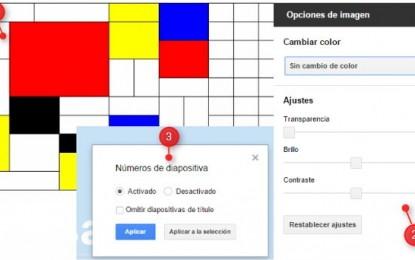 Novedades en Google Drive: Celdas combinadas y edición de fotos en Docs, además, numeración en las diapositivas