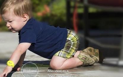 iSwimband, una pulsera inteligente que vigila a los niños en la piscina
