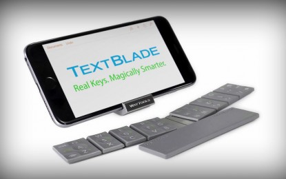 """TextBlade es un micro teclado magnético con diseño """"inusual"""""""