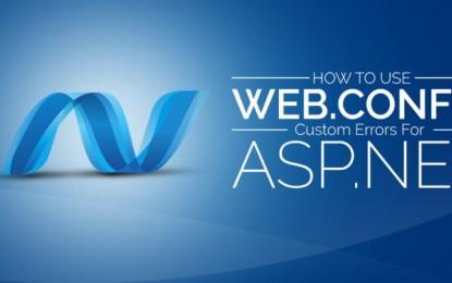 Configuración y estructura de web.config