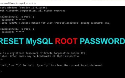 Aprende como reinicializar la contraseña root de MySQL