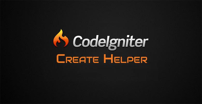 Helper en CodeIgniter