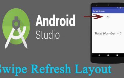 SwipeRefreshLayout Android (Desliza para Actualizar Pantalla)