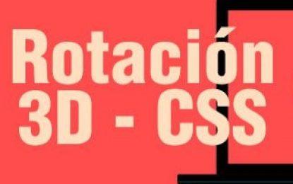 Rotación libre de un elemento en el espacio 3D con variables CSS