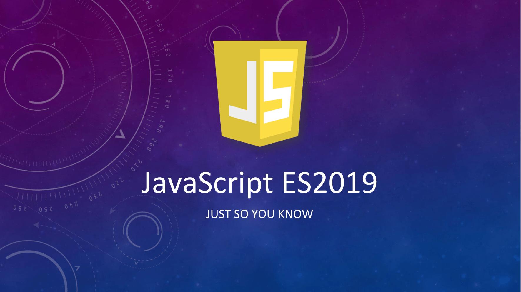 Estas son las características JavaScript 2019
