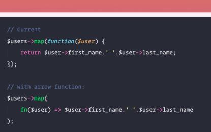 PHP aprueba funciones de flecha corta