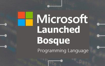 Nuevo lenguaje de Open Source (Microsoft)llamado Bosque