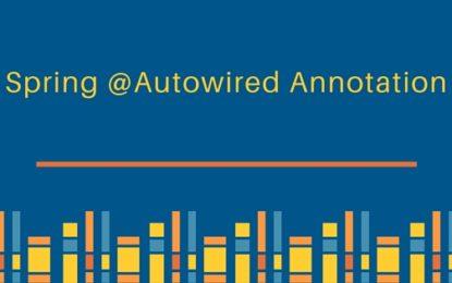 Spring @Autowired (inyección de dependencias)