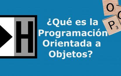 ¿Qué es la programación orientada a objetos?